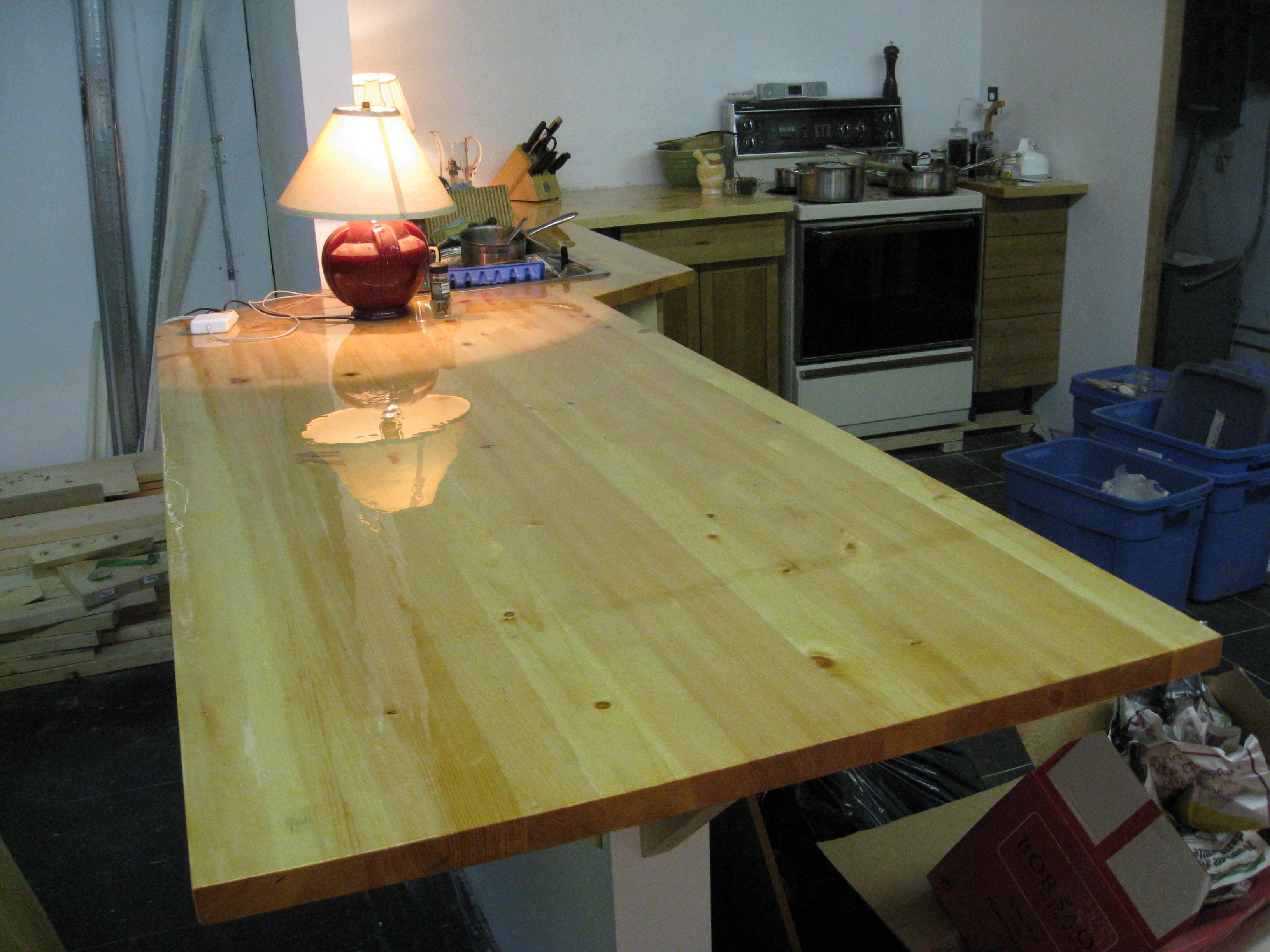 Pine bartop rossel b rard for Meuble comptoir bar